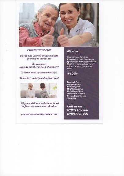 Crown Senior Care cover